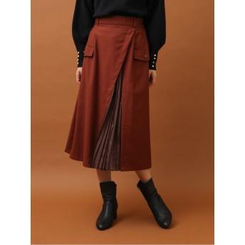 ELENCARE DUE ラップ×プリーツスカート