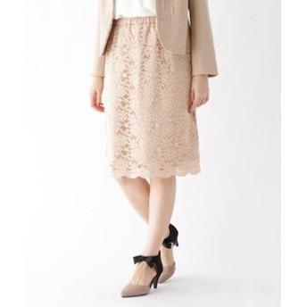 【Couture brooch:スカート】【WEB限定サイズ(LL)あり】ストレッチレースタイトスカート