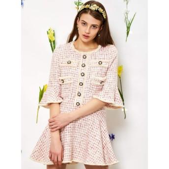 Petal Tweed Mini Dress