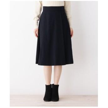 【her style.掲載】【42(LL)WEB限定サイズ】ウール混セミフレアスカート