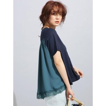 裾レースTシャツ/MUVEIL WORK×Anti Soaked(汗染み防止)
