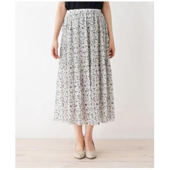 【M-LLまで】プリントプリーツスカート