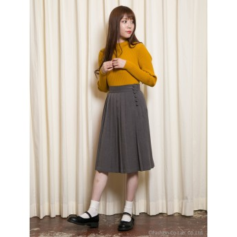 【F i.n.t】カラープリーツスカート