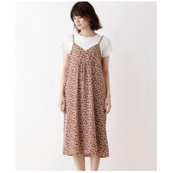 【WEB限定サイズ・04(LL)あり・2点セット】Tシャツ+キャミワンピース
