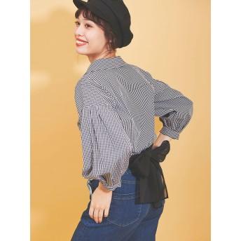 【シャツ】エアリーバックリボンシャツ