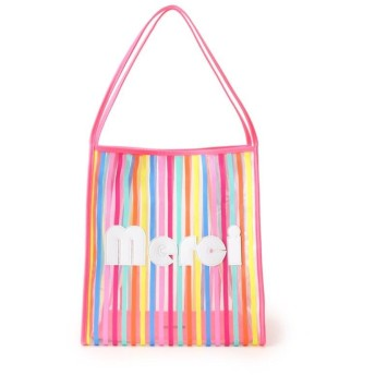【WEB限定】a-jolie ネオンストライプクリアトートバッグ