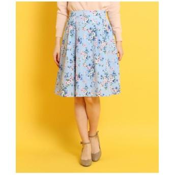 【WEB限定サイズ(S・LL)あり】グログランフラワースカート