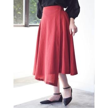 ・巻きフレアスカート