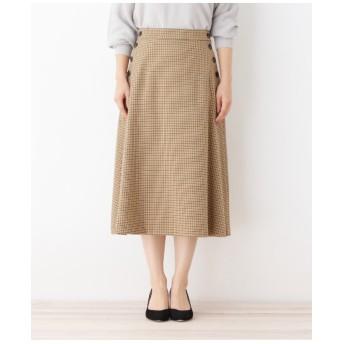 【洗える】ガンクラブフレアスカート