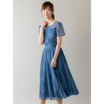 【Rewde】【4色展開】半袖レースドレス(9R04-84509)