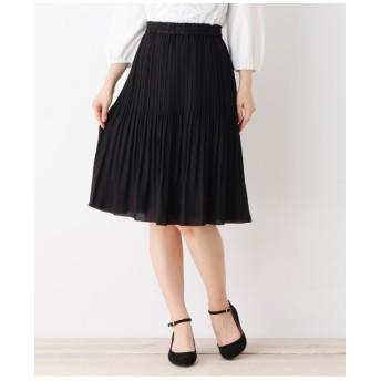 【4(LL)WEB限定サイズ】ジョーゼットプリーツスカート