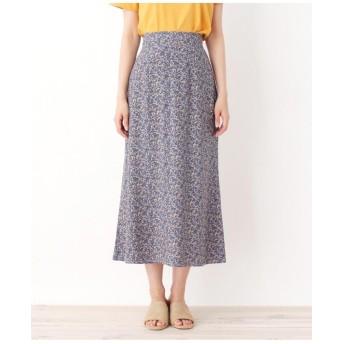 【42(LL)WEB限定サイズ】小花柄ミディ丈スカート