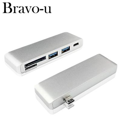 Bravo-u Type C 鋁合金四合一OTG多功能轉接卡