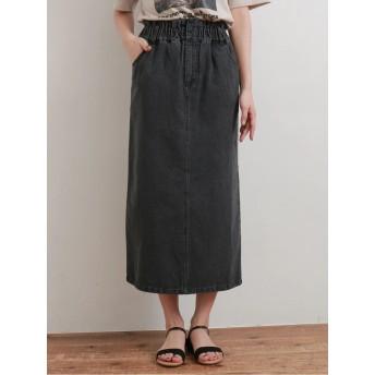 ・デニムアイラインスカート