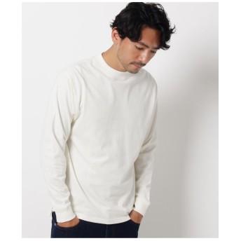 【WEB限定】USAコットンモックネックロングTシャツ/ユニセックスでオススメ!!