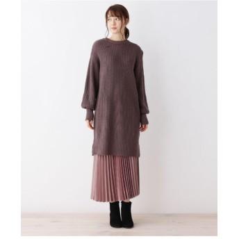 【セットアイテム】ニットワンピ&プリーツスカートセット