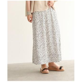 [洗える]レオパード柄ナローマキシスカート