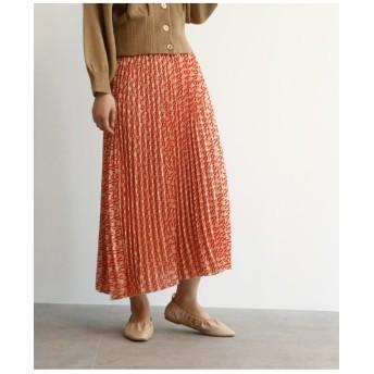 [洗える]スカーフ柄プリーツスカート