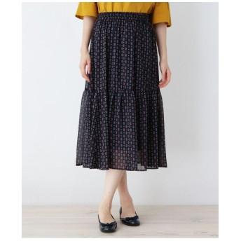 【大きいサイズあり・13号・15号】クラシカル総柄スカート