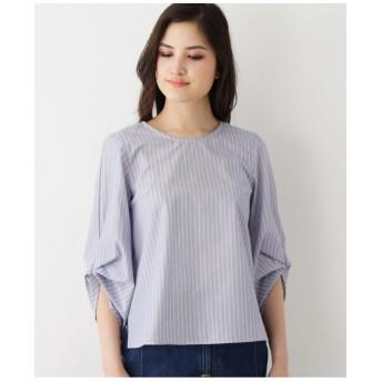 【洗える】折り紙タック袖シャツ