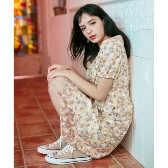 【オンワード】 TOCCA(トッカ) 【TOCCA LAVENDER】Ipe Flowers Embroidered ドレス イエロー 4 レディース 【送料無料】