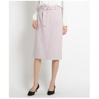 【ママスーツ/入学式 スーツ/卒業式 スーツ】【Lサイズあり】ベルテッドカルゼフェイクラップスカート