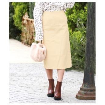 【CHILLE】●起毛ツイルタイトスカート
