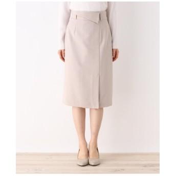 【洗える・42(LL)WEB限定サイズ】アムンゼンラップ風タイトスカート