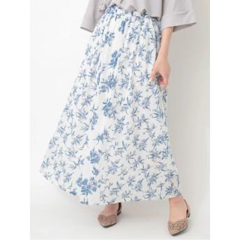 Hunch フラワーptマキシスカート