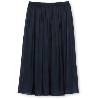 【ママスーツ/入学式 スーツ/卒業式 スーツ】エアメタルサテンスカート