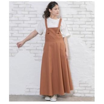 【AULI】 コットンリネンジャンパースカート