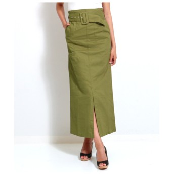 【anap Latina】 ベルト付き薄ツイルナロースカート