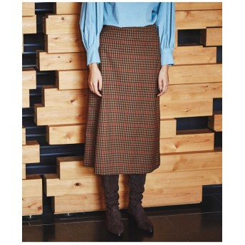 ODORANTES/チェックバックプリーツスカート