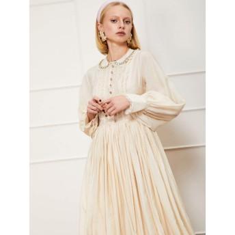 Rosette Lace Maxi Dress