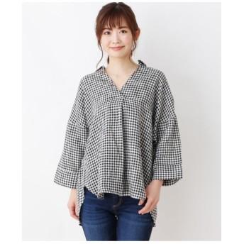 【洗濯機OK】フレンチリネン スキッパーシャツ