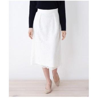 【洗える】フレアレーススカート