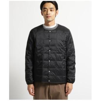 TAION ダウンクルーネックボタンライトジャケット