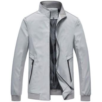 FOMANSH ブルゾン メンズ ミリタリージャケット ジャンパー フライト 立ち襟 カジュアル 春秋 アウター
