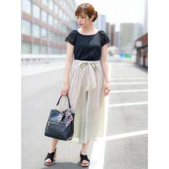 【Rewde】リボンベルト付スカーチョ(9R12-07036)
