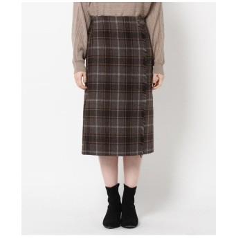 ラップ風フリンジナロースカート