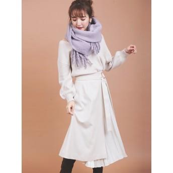 【スカート】プリーツレイヤード風スカート
