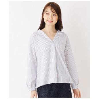 【洗濯機洗いOK】ストライプスキッパーシャツ