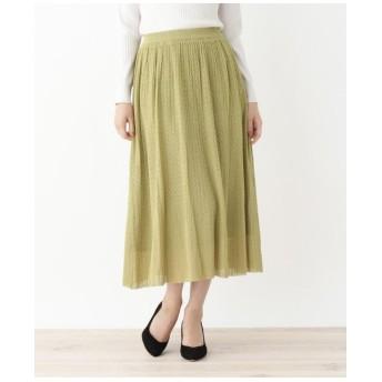 ◆レーヨンすかし編みニットスカート