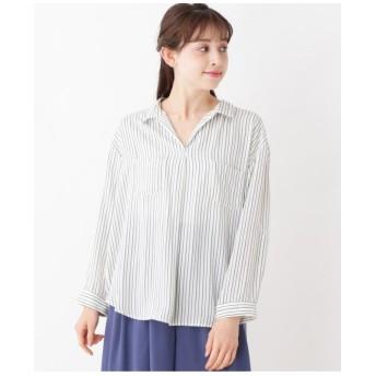 【大きいサイズあり・17号・19号】ストライプスキッパーシャツ