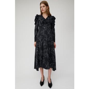 PUFF SHOULDER FLORAL ドレス