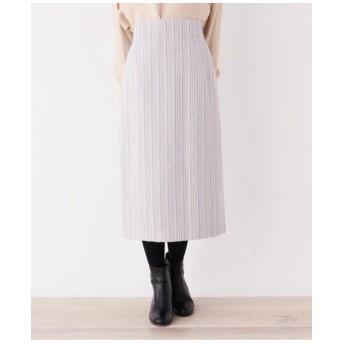 【洗える・42(LL)WEB限定サイズ】グレインツイードロングタイトスカート