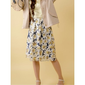 【Rewde】花柄フレアスカート(9R10-03084)