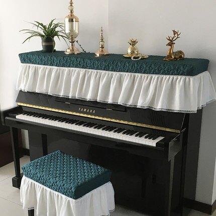"""""""好夢連連鋼琴罩蓋佈防塵罩蕾絲公主風輕奢全罩凳套兩件套 鋼琴罩 『XY1398』"""""""