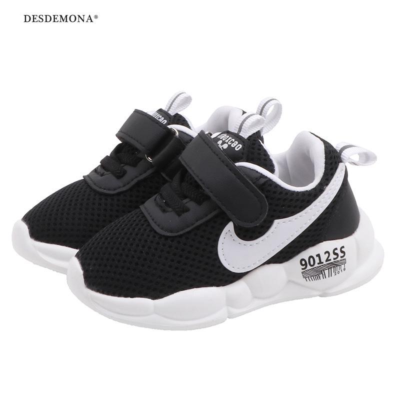 兒童運動鞋2020春新款韓版透氣軟底男女童字母鞋1-3歲小童百搭鞋