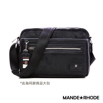 曼德羅德 MANDE RHODE 卡莫雷茲 美系潮男風格隨身斜背包 迷彩黑 P2018